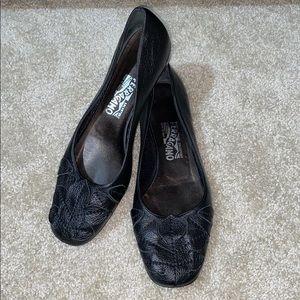 Salvatore Ferragamo Leather Flats Like New